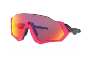 Oakley Flight Jacket Polished Black Neon Pink/Prizm Road